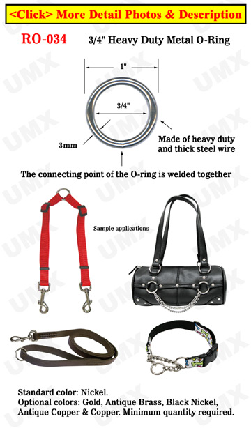 "3/4"" Non-Split Steel Metal Steel Orings: Durable Heavy Duty Rings"