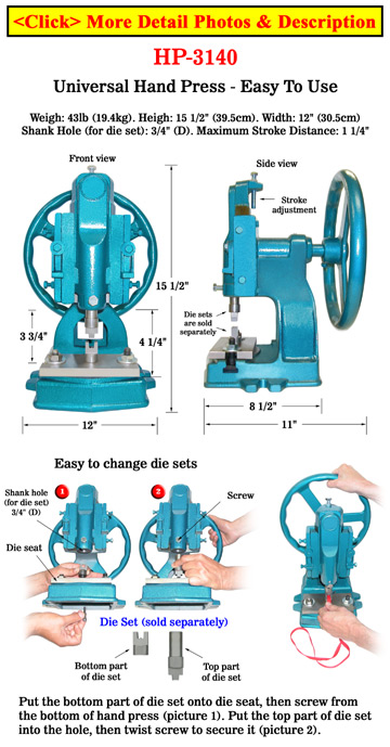 Hand Press: Handy Machine For Crafts or Lanyards Making