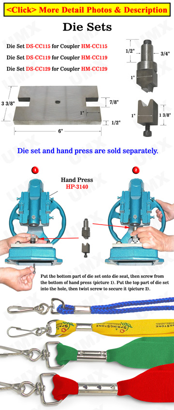 Die Sets: Craft Cords or Lanyard Straps Clamping Tools