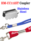 Stainless Steel Couplers: Clamping Fasteners For Craft Cords or Straps
