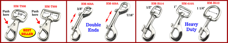 Heavy Duty Bolt Snap Hooks, Two Ended, Double Ended Bolt Snaps With Two Ends