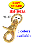 "Best Seller: 7/16"" Small Lobster Claw Bolt Snap Hooks: Nickel, Gold, Antique Brass and Black Nickel Finish"