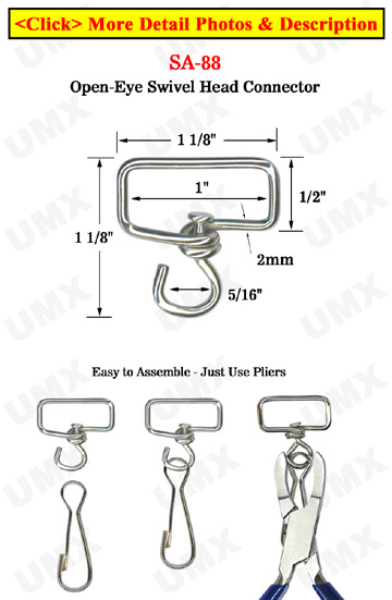 "Big Size Swivel Head Connector: For 1"" Wide Straps"