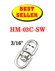 "Best Seller: Double Swivel Rings: With 3/16"" Eye-Rings HM-03C-SW/Per-Piece"