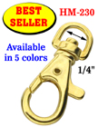 "1/4"" Best Seller Trigger Snap Hooks: For Keychains and Craft Making HM-230/Per-Piece"