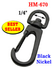 "1/4"" Best Seller Spring Wire Gate Bolt Snap Hooks: For Small Round or Flat Cords"