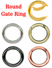"1"" Round Gate Rings For Lanyard Straps or Keychains"