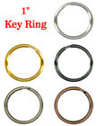 "Metal Key Rings: 1"" Steel Keyrings: Gold, Antique Brass, Copper, Nickel and Black Nickel"
