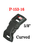 "5/8"" Curved Wrist Band Plastic Buckles: Curved Wrist Strap Buckles"