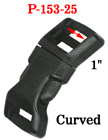 "1"" Large Curved Shape Side Release Plastic Buckles: For Wide Fastening Straps"