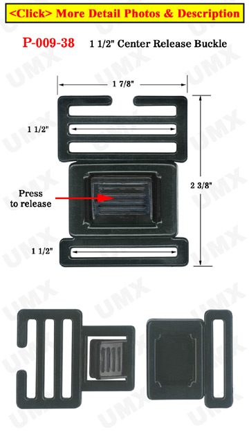 "1 1/2"" Large Ladder Lock Center Release Plastic Buckles"