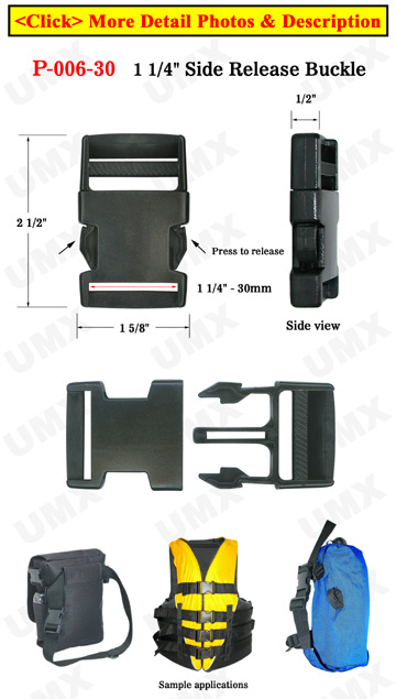 "1 1/4"" Plastic Side Release Buckles: Most Popular For Backpack Straps"
