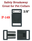 "3/8"" Small Pet Collar Plastic Buckles: For Small Cat or Dog Collars With Safety Breakaway Function"