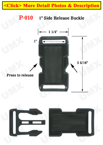 "1"" Single Strap Hole Side Release Plastic Buckles: Easy To Sew"