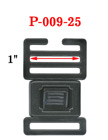 "1"" Small Ladder Lock Center Release Plastic Buckles P-009-25/Per-Piece"