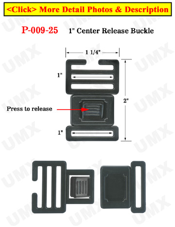 "1"" Small Ladder Lock Center Release Plastic Buckles"