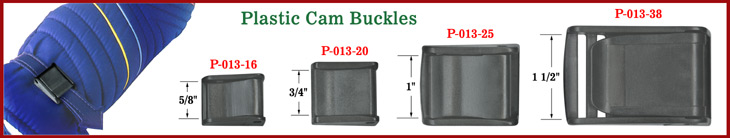 Plastic Cam Buckles Work as Strap Fasteners, Adjuster, Sliders, Tie Downs or Belt Buckles