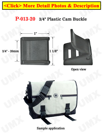 "3/4"" Plastic Cam Fastening Strap Buckles: with Two Strap Holes"