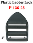 "1"" Curved Plastic Ladder Lock Buckles:  Easy Lock Fasteners P-136-25/Per-Piece"