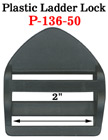 "2"" Heavy Duty Jumbo Plastic Ladder Lock Buckles: Heavy Strap Buckle Fasteners P-136-50/Per-Piece"