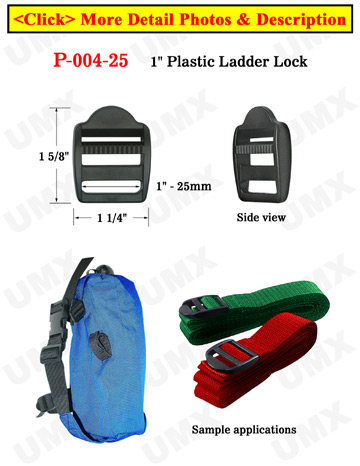 Plastic Locks: Strap Locking Buckles: Ladder Style Fasteners