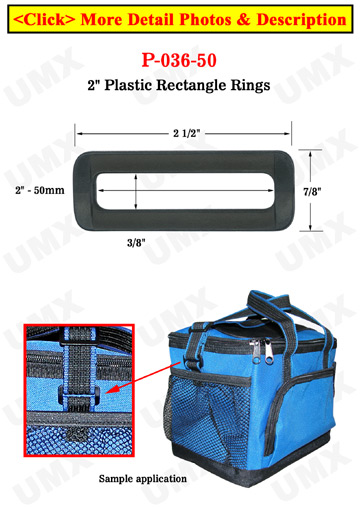 "2"" Jumbo Size Regular Heavy Duty Plastic Rectangle Ring"