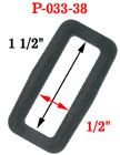 "1 1/2"" Large Strap Rectangular Plastic Rings P-033-38/Per-Piece"