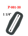 "1 1/4"" Popular Size Rectangle Plastic Rings with Enhanced Edge"