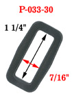 "1 1/4"" Popular Thick Strap Rectangle Plastic Ring"