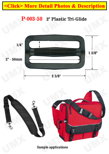 "2"" Jumbo Size Plastric Strap Connecting Buckles: Tri-Glides"