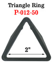 "2"" Jumbo Size Heavy Duty Triangle Plastic Rings"