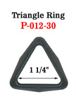 "1 1/4"" Popular Size Plastic Triangle Rings"