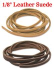 "Leather Suede: Genuine Small, Narrow & Flat Leather Cords / Strings - 1/8""(W)x60""(L)"