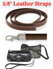 "Sturdy Leather Straps: Genuine Flat Leather 5/8""(W)x44""(L)"