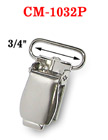 "3/4"" Finger Tip Style Metal Suspender Clips With Plastic Protection Insert: Nickel Color CM-1032P/Per-Piece"