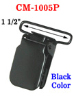 "1 1/2"" High Quality, Heavy-Duty Black Metal Suspender Clips With Plastic PVC Teeth Protection CM-1005P/Per-Piece"