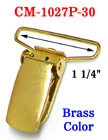 "1 1/4"" PVC Plastic Protected Suspender Clips: Brass Finish"