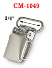 "3/4"" Short Tip Metal Suspender Clips Without Plastic PVC Teeth: Nickel Color CM-1049/Per-Piece"