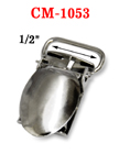 "1/2"" Strap Clamping Coupler Metal Suspender Clips Without Plastic PVC Teeth: Nickel Color CM-1053/Per-Piece"