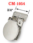 "3/4"" Sew-On Metal Suspender Clips Without Plastic PVC Teeth: Nickel Color CM-1054/Per-Piece"