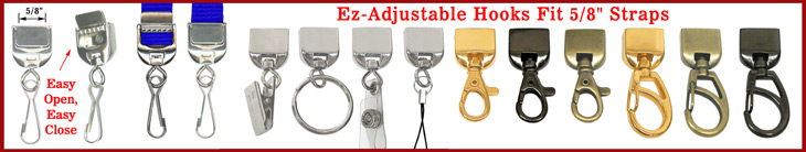 Heavy Duty Steel Metal Lanyard Strap Fitting Hardware