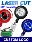 Laser Cut Customized Badge Reels With Domed Logo Cover Protection RT-01R-LD/Per-Piece