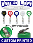 Full Color Logoed Badge Reels With Domed Cover Protection - Wholesale RT-01R-FCPD/Per-Piece