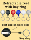 Retractable Key Holders With Key Rings (Keychains) RT-03/Per-Piece