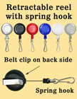 Retractable Reels With Metal J-Hooks RT-05/Per-Piece