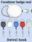 Carabiner Retractable Swivel Hooks For Small Hardware Accessories