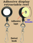 Rotatable Retractable Displays With Adhesive Backs and Swivel Hooks RT-12-HK/Per-Piece