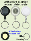 Low Cost Promotional Item Display Retractable Key Chain Reels With Metal Keychains and Adhesive Backing