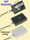 Rectangle Rotatable Retractable ID Card Reels With Universal ID Card Strings RT-51-CP1/Per-Piece