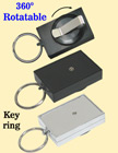 Rectangle Rotatable Retractable Key Chains With Metal Key Chain Holders & Belt Clips RT-51-O/Per-Piece